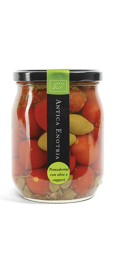 pomodorini olive e capperi biologici antica enotria puglia