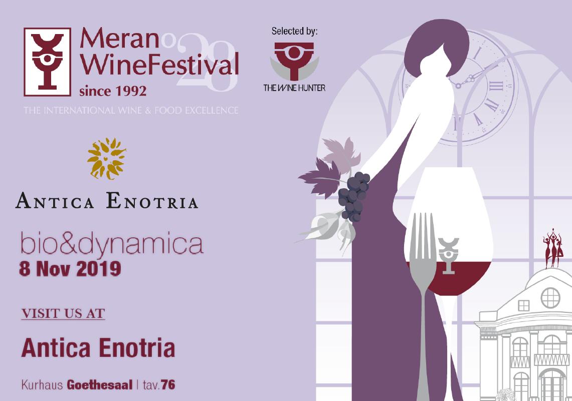 Merano Wine Festival. Antica Enotria e il vino biologico di Puglia